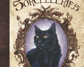 """Cats, charms and sorcery"" illustrated book"