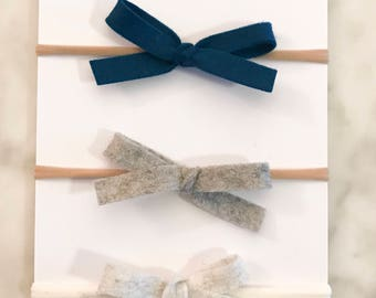 NATALIE- 1/2 inch Hand Tied Bow