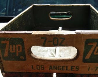 Wooden Crate With 7-Up Logo 1976 Los Angeles