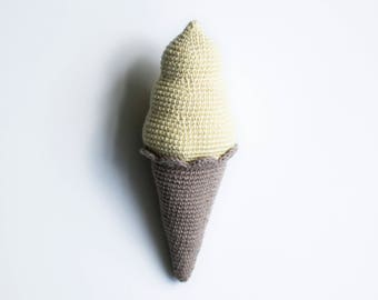 Crocheted soft ice cream