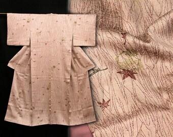 Japanese Kimono Robe / Vintage Silk Kimono / Dressing Robe / 111304