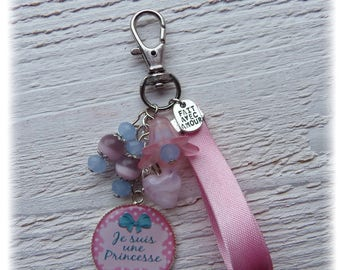 "Bag charm Cabochon ""I'm a Princess"""