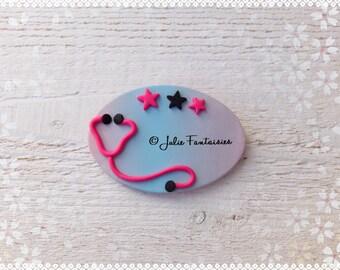 Customizable badge polymer nurse, doctor, internal