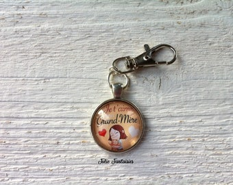 "Keychain ""I love big mother"""