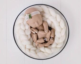 BRAID 100% WOOL, soft, 11 colors, newborn props, braid, photography prop, wool basket stuffer, photo prop wool braid, wool plait