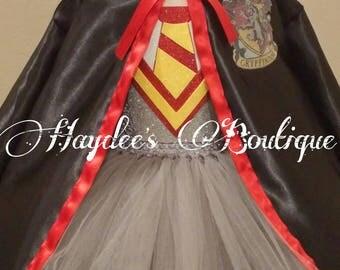 Red Wizard Cloak Tutu Dress Set