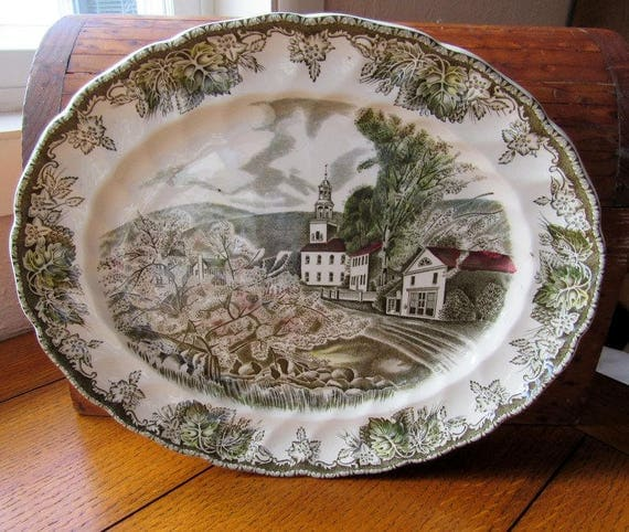 Friendly Village Small Platter Johnson Bros China