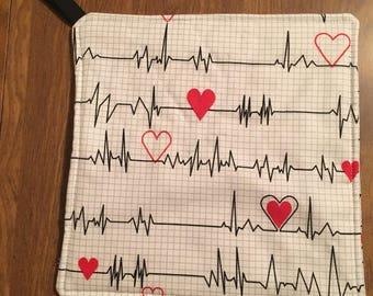 Cardiac Heart Pot Holder Hot Pad