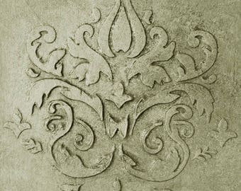 Wall Stencil, Plaster Stencil, Furniture Stencil, Chadwurth Damask