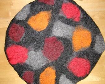 Felt pillows, chair cushions, seat cushion, hiking cushion, seat cushions, cushions, felted, Merino wool