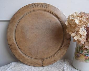 Antique carved bread board, BREAD