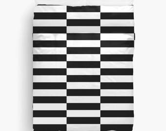 Black and White Striped Duvet Cover, Girls Room Decor, Black and White Duvet Cover, Teen, Tween Girls, Queen Duvet Cover, Twin Bedding, King