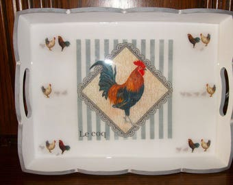 Medium sized tray hens and Rooster patterns