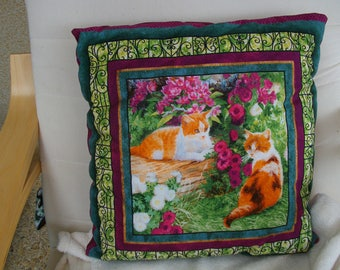 Cushion 40 x 40 cm cats pattern