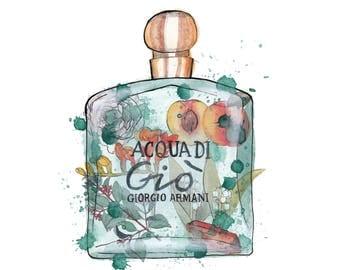 Giorgio Armani Acqua Di Gio Perfume Print
