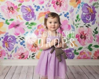 Photography Backdrop - NEAT BOARDS - IVORY - Printed wood floor background - Ivory wood boards photo backdrop - 5ft x 5ft - 10ft wood boards