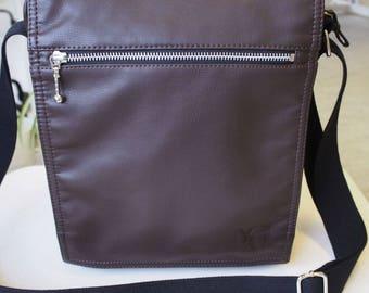 Leatherette bag «Favorite-1», leatherette shoulder bag, handmade bag, leatherette bag
