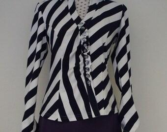 Diagonal striped shirt