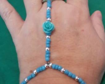 Bracelet, Slave Bracelet, Jewelry, Beads, blue rose, Handmade, stretchy