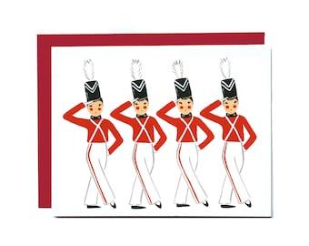 Kick Line Christmas Card