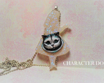 Cheshire Cat Necklace Polymerclay Miniature