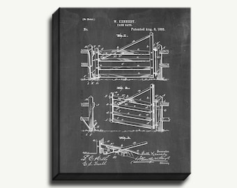 Canvas Patent Print - Farm Gate Gallery Wrapped Canvas Poster