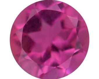 Bixbite Red Beryl Synthetic Lab Created Loose Gemstone Round Cut 1A Quality 5mm TGW 0.35 cts.