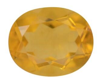 Canary Yellow Fluorite Oval Cut Loose Gemstone 1A Quality 11x9mm TGW 4.15 cts.