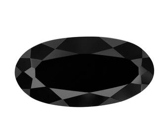 Thai Black Spinel Oval Cut Loose Gemstone 1A Quality 14x7mm TGW 3.40 cts.
