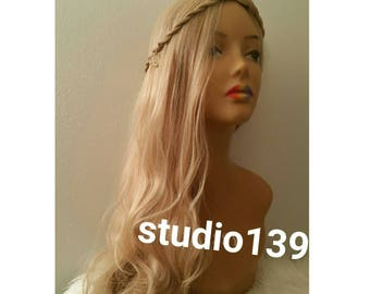 Game of Thrones Cosplay Wig Daenerys Targaryen khaleesi Long Curly Hair ash blonde goodness Halloween wig