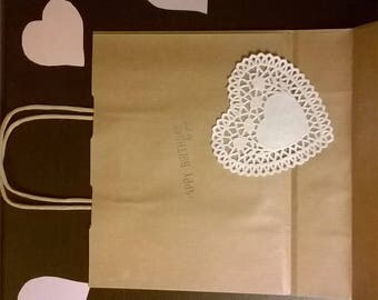 happybirthday with love craft paper bags-bags of paper craft
