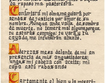 The 23rd Psalm in Spanish