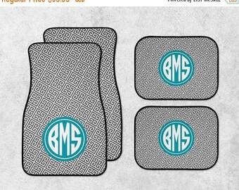 SALE - Personalized Car Mats - New Car Floor Mats - Monogram Car Mat Set - Custom Car Mat Set - Full Set Car Mats - Preppy Car Mats - New Dr