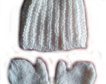 Hat and mitten baby 6-12 months