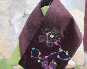 End of series scarf-blah blah velvet Choker