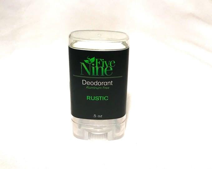 Deodorant Men's Deodorant Aluminum Free Cruelty Free Paraben Free Phthalate Free Coconut Oil Travel Size Rustic Five Nine