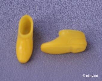 Mod Barbie Skipper Francie Doll Yellow Ankle Boots, Near Mint