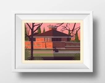 Edwin H. Cheney House Print
