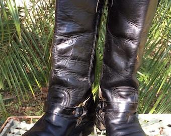 Vintage Motorcycle Boots Vintage Biker Boots Vintage Rocker Boots 7.5D