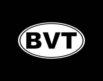 Burlington, VT Vinyl decal sticker BVT oval,Vermont Car decal Laptop etc...