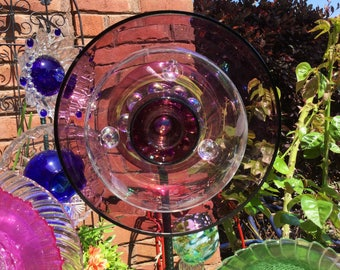 Polly's Antique Purple Glass Flower