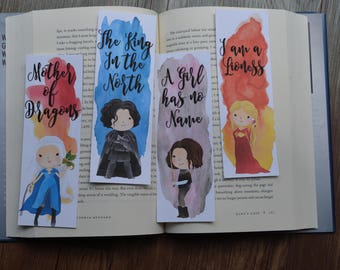 Mythical Character Bookmarks, Game of Thrones Inspired Bookmarks