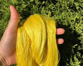 Yellow Silk Lace Yarn (Cone or Hank)