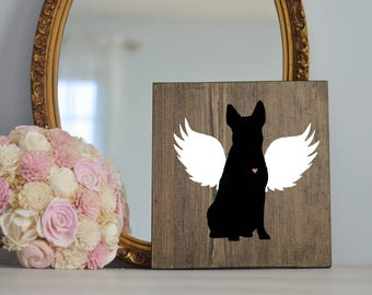Australian Cattle Dog Angel Wing Silhouette, Remembrance Sign, Dog Memorial, Loss of Dog, Aussie Silhouette, Australian Cattle Dog