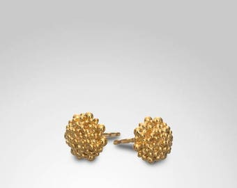 SALE15% Bridal Earrings, Gold Bridal Jewelry, Post Earrings, Fine Jewelry, Gold Stud Earrings, Small Elegant Earrings, Bohemian Gold Jewelry