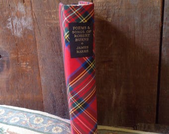 Poems and songs of Robert Burns, James Barke, poetry, pictres, G.F. Maine, Collins London  and Glasgow