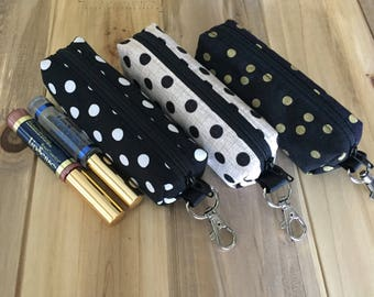 lip gloss holder - LipSense holder gift - zipper pouch - tampon holder - lipsense