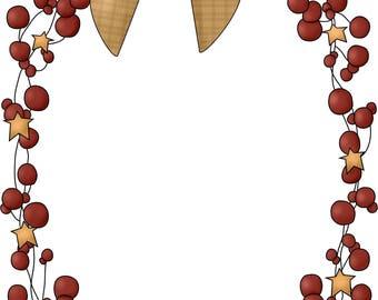 E-Pattern Primitive Twigs & Berries Cross Stitch Pattern 03