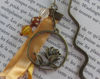 Bookmark bronze one Rose for you