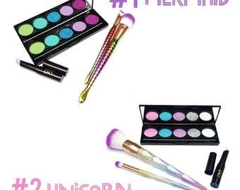 Mermaid or Unicorn Pretend Play Makeup Set - No mess! - Fake makeup -pretend play - kid makeup - pretend - cosmetics - play makeup
